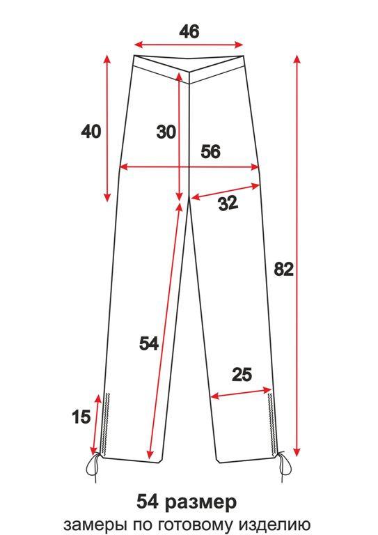 брюки-капри с затяжками выкройка