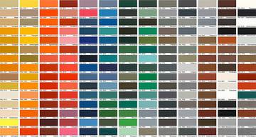 Таблица цветов RAL по производителю БЦ