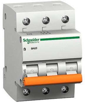 Автоматический выключатель 3-полюсный Schneider Electric BA63 3P 20A C 11224