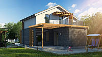 Каркасно-щитовой дом из sip-панелей