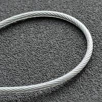 Трос в ПВХ оплетке 5 мм  (4+1) DIN 3055 (6*7) бухта 100 м
