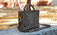 Кожаная сумка через плечо ручной работы