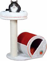 """Домик с когтеточкой """"Фреш Оранж"""" для кошек и котят, 72см, оранжевый/белый"""