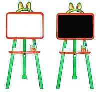 Доска для рисования магнитная двухсторонняя 013777/3 оранжево - зелёная Фламинго - Тойс