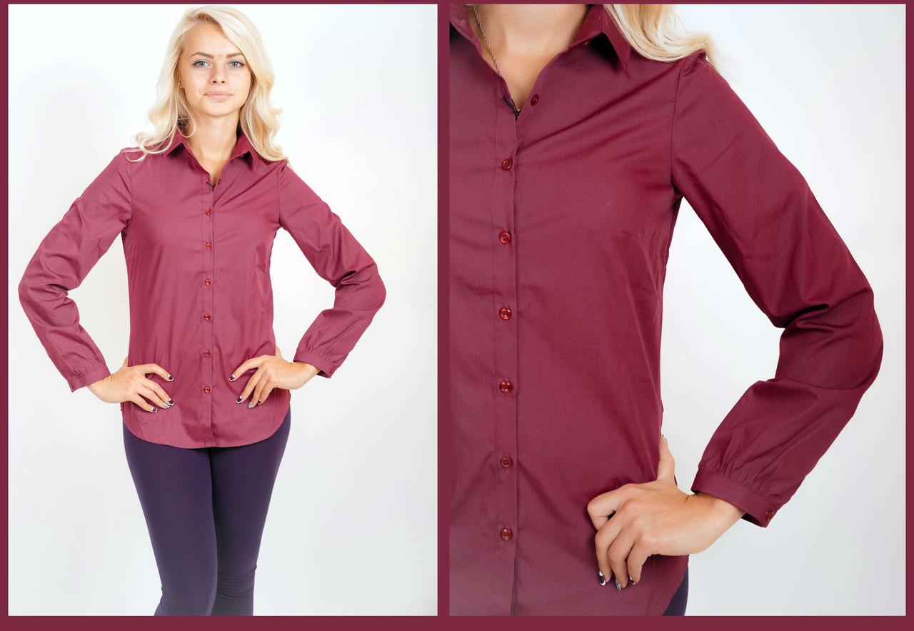 b0733b19d06 Рубашка женская в мелкую клетку.Длинный рукав