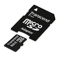 Карта памяти microSDHC Transcend 8 GB (class 4) Код:94378140