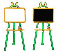 Доска для рисования магнитная двухсторонняя 013777/2 желто - зелёная Фламинго - Тойс