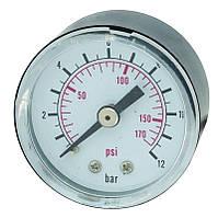 Манометр Aquatica Katran PG-4, 0-12 бар, диаметр 40мм, резьбовое соединение.