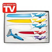 Набор ножей с цветным антипригарным керамическим покрытием из 6 предметов Код:263722127