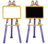 Доска для рисования магнитная двухсторонняя 013777/4 желто - фиолетовая Фламинго - Тойс