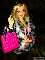 """Барби шарнирная """"Модница"""" Меховой жакет Barbie Doll Style Fashion Luxe Doll Unboxing and Review"""