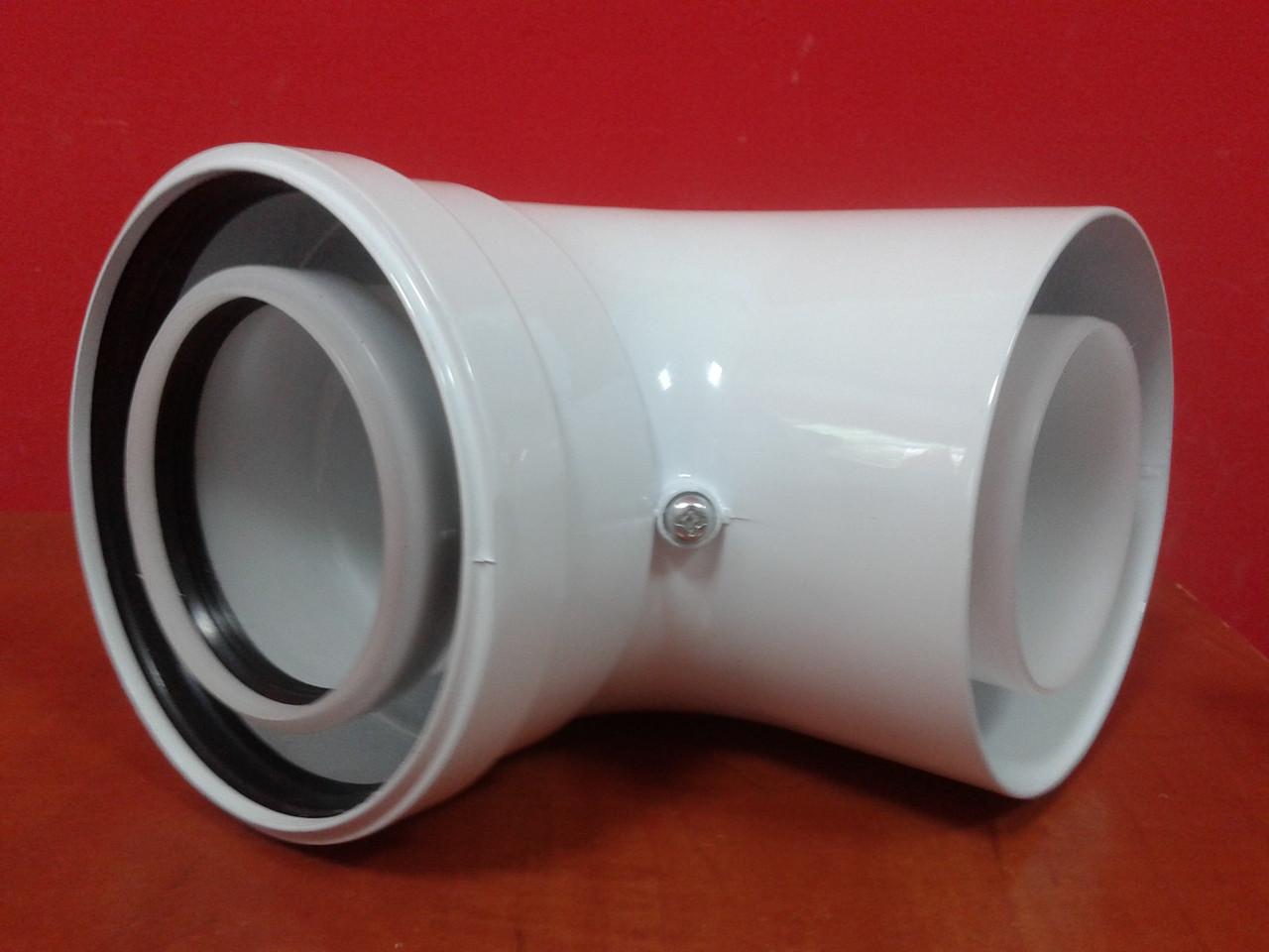 Колено угол 90 дымохода 80/125 конденсационное