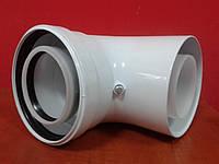 Колено угол 90 дымохода 80/125 конденсационное, фото 1