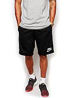 Мужские спортивные шорты Nike черного цвета с белым логотипом, фото 1