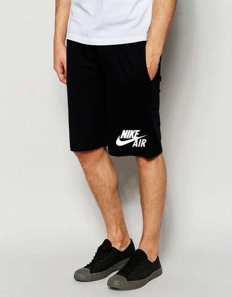Мужские спортивные шорты Nike Air черного цвета с белым логотипом