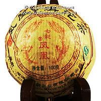Чай Пуэр Шу Bulang 2007 года прессованный 100г