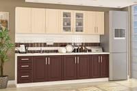 Кухонный гарнитур Gamma Мебель-Сервис 2000 мм матовый цвет винный, фото 1