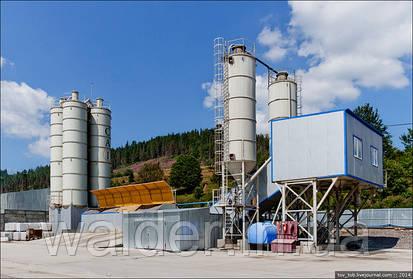 Бетоносмесительная установка Валдер на строительстве Бескидского тоннеля.