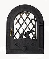 Чугунная каминная дверца - VVK 35x47см-27x38см