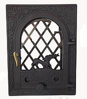 Чугунная каминная дверца - VVK 35x46см-27x38см