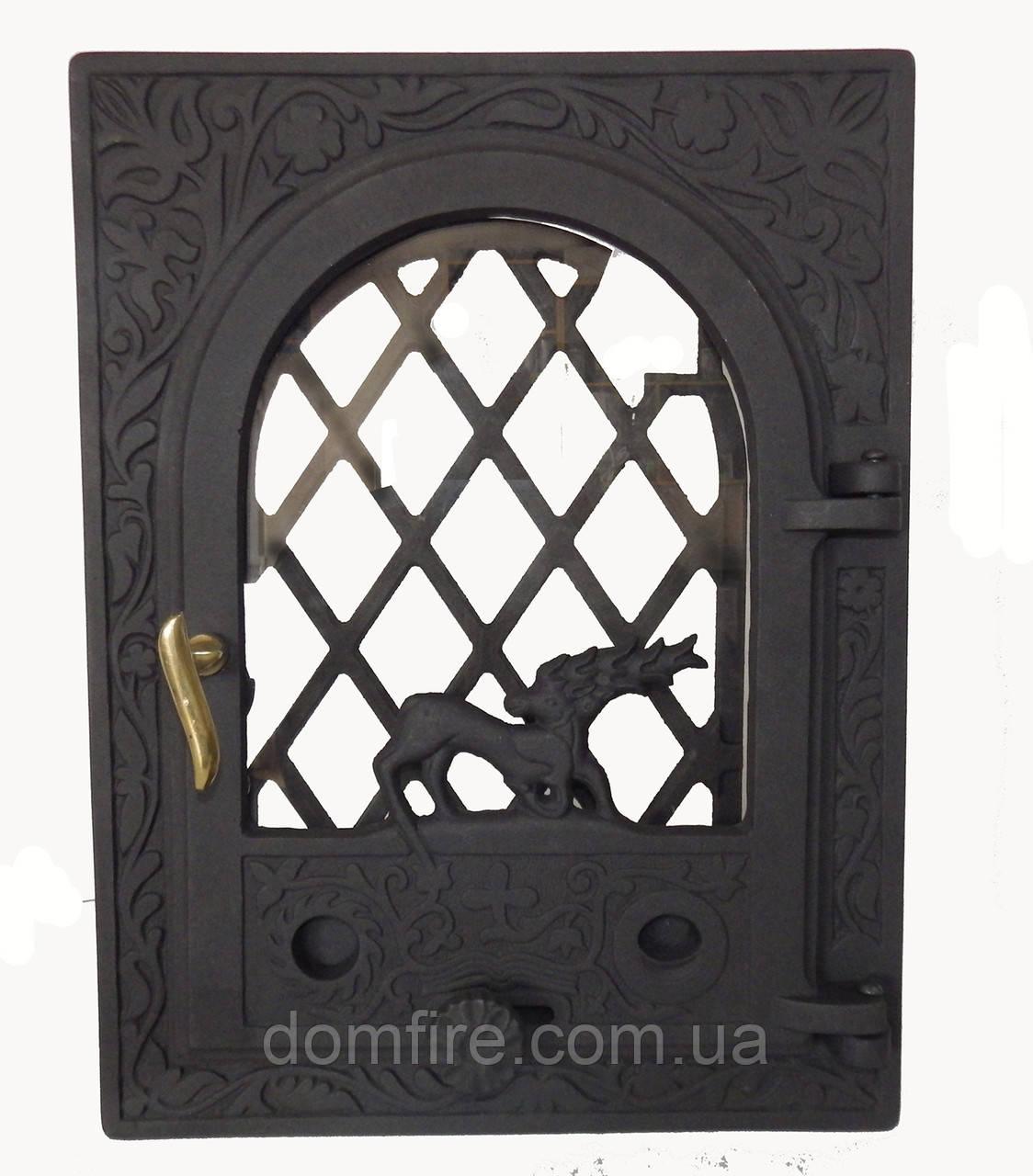 Чугунная каминная дверца - VVK 35x46см-27x38см - Domfire - тепло в Вашем доме в Ужгороде