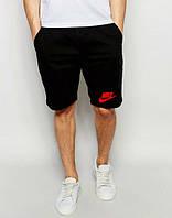 Мужские спортивные шорты Nike черного цвета с красным логотипом, фото 1