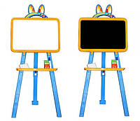 Доска для рисования магнитная двухсторонняя 013777/1 желто - голубая Фламинго - Тойс