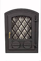 Чугунная каминная дверца - VVK 35x46см - 27x39см