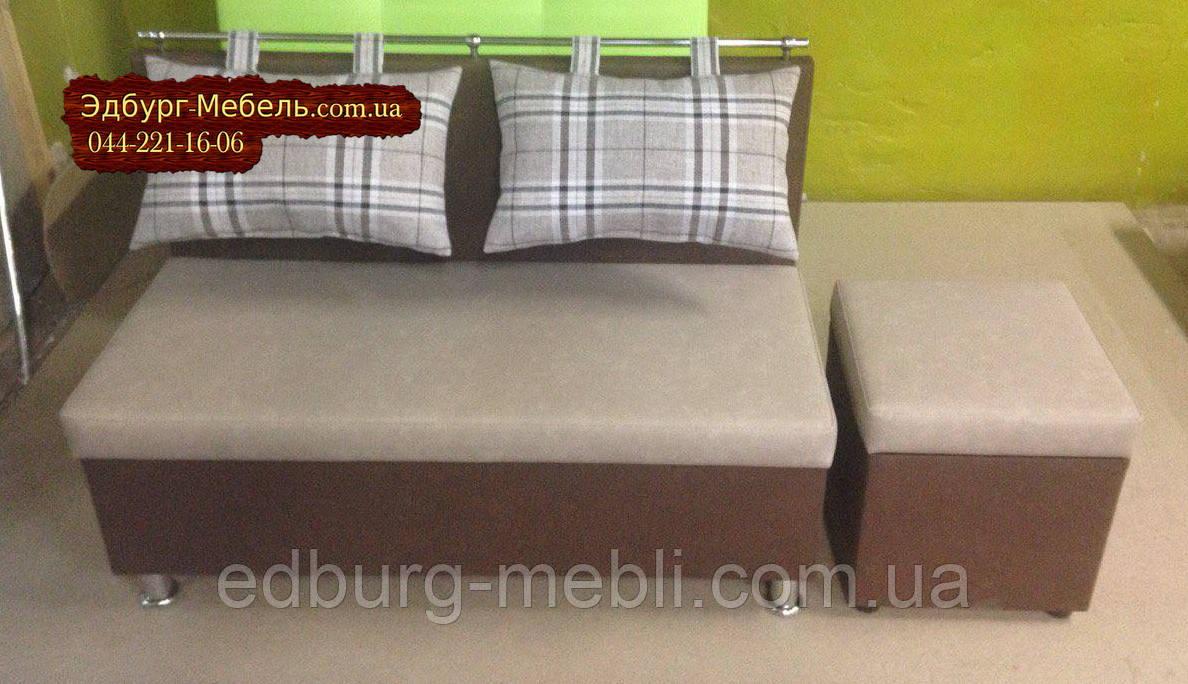 """Диван для кухни, лоджии, балкона """"Комфорт"""" экокожа + ткань 1100х500мм - фото 4"""