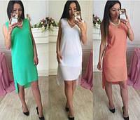 Платье асимметричное в стиле casual