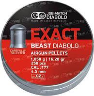 Пули пневм JSB Beast 4,52 мм 1.05 гр. (250 шт/уп)
