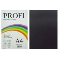 "Бумага цветная ""PROFI"" А4. 155-160 г  черный BLACK"
