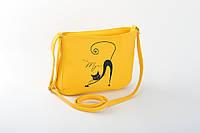 Маленькая женская сумка с вышивкой «Мур»