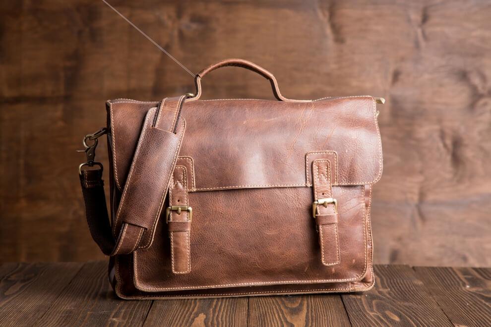 Кожаный мужской портфель TIDING BAG G8870 коричневый