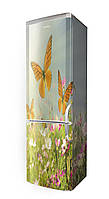 Наклейка на холодильник бабочки