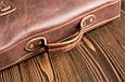 Кожаный мужской портфель TIDING BAG G8870 коричневый, фото 3
