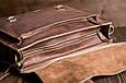 Кожаный мужской портфель TIDING BAG G8870 коричневый, фото 4