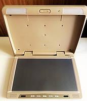 """Монитор автомобильный потолочный Klyde Ultra KU 3705  BG (15,6"""") USB / SD / TV бежевый"""