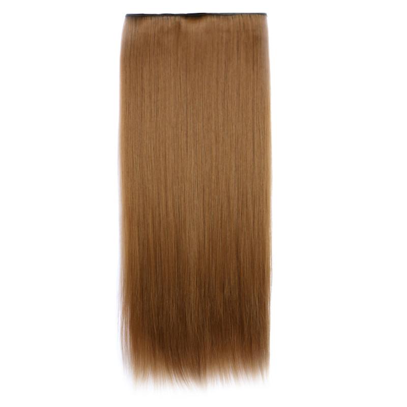Штучні волосся на заколках. Колір #6А Світло-коричневий