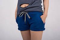 Шорты женские спортивные хлопок   (синий)