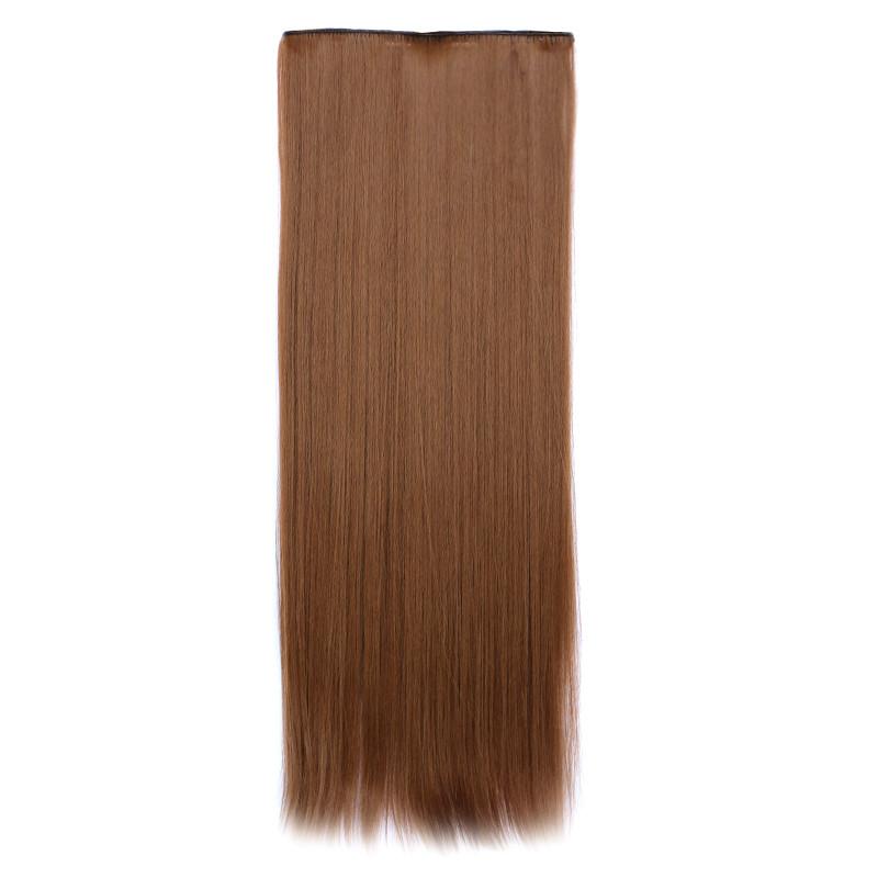 Искусственные волосы на заколках. Цвет #12 Насыщенный русый, фото 1