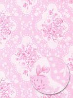 Отрез ткани 100% хлопок -  Ромбы, розы, 40x50 см, 1 шт