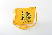Маленькая женская сумка с вышивкой «Дама с собачкой», фото 1