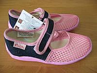 Тапочки Сеточка для девочки, текстильная обувь Vitaliya, ТМ Виталия Украина, р-р 24