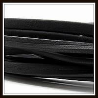 Шнур замшевый 10*5 мм, цвет черный (20 см)