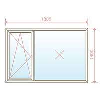 Окно Salamander 2D 60/1800х1400/4-16-4 - Magazin Okon