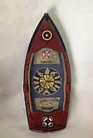 Часы настенные, Лодка, 40х15х5 см, Оригинальные подарки, Морские сувениры, Морской декор, Днепропетровск