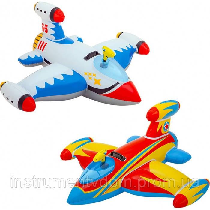 """Детский надувной плотик INTEX 57539 """"Космический корабль"""" (147х127 см)"""