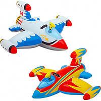 """Детский надувной плотик INTEX 57539 """"Космический корабль"""" (147х127 см), фото 1"""