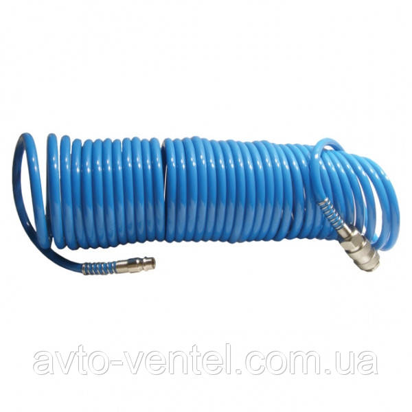 Шланг спиральный полиуретановый 10 м. INTERTOOL